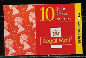 Great Britain sgHD38 Book Offer Booklet MNH