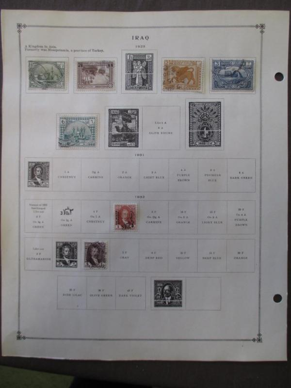 ~1923-1959 Iraq On Scott Pages - See Description Photos - Unchecked - W42