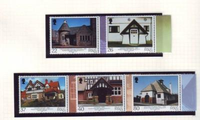 Isle of Man Sc 924-8 2001 Scott Architecture stamp set mint NH