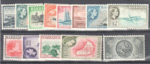 Barbados 1953-57 Scott # 235-247 Mint OG LH Set