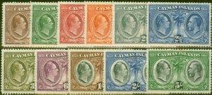 Cayman Islands 1932 Centenary set of 11 to 5s SG84-94 Good Lightly Mtd Mint