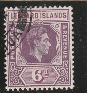 Leeward Islands  Scott#  110  Used  (1938 king George VI)