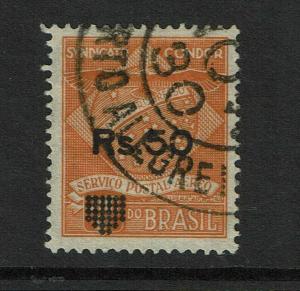 Brazil 50Rs Candor Overprint Used - S7175