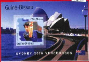 A0718 - GUINEA-BISSAU - ERROR  IMPERF SHEET - SPORT: Sydney OLYMPICS Ping Pong