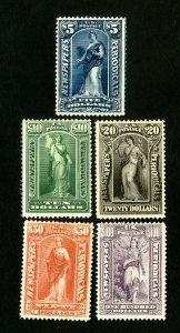 US Stamps # PR121-5 F-VF+ OG H Scott Value $267.00