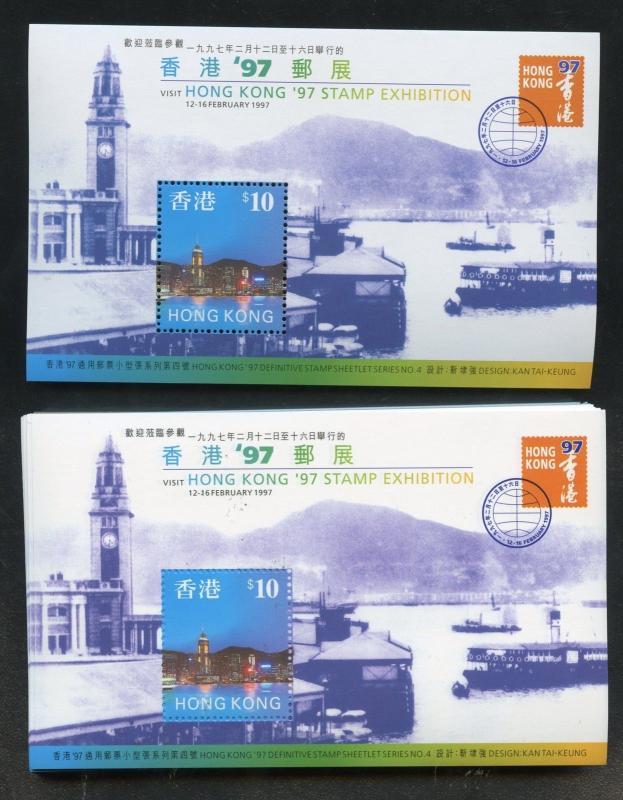 HONG KONG  SCOTT# 776a  PACK OF 100 SOUVENIR SHEETS MINT NH