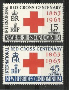 New Hebrides-Br. # 94-95  Red Cross Centenary   (2) Mint NH