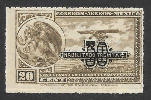 Doyle's_Stamps: PO Fresh 1932 MH Mexico Airmail w/Overprint Issue, Scott  #C46*