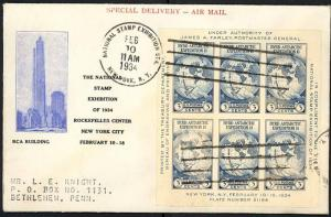735a, PL# 6a FIRST DAY COVER GORHAM BLUE & BLACK CACHET
