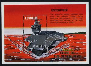 Lesotho 1220 MNH Ships, Aircraft Carrier USS Enterprise