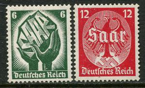 GR Lot 10348 German Postage 1934 Michel 544-545 OGHM Saarabstimmung