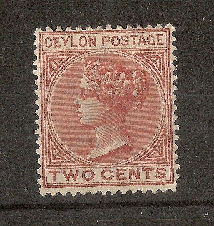 Ceylon 1883 2c SG146 Mint Cat£75