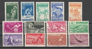 Nicaragua, Scott cat. 717-729. Sports and Scout issue LH. ^