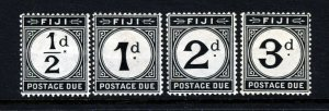 FIJI 1918 POSTAGE DUES Watermark Mult Crown CA Part Set SG D6 to SG D9 MINT