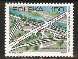Poland Scott 2048 MNH** 1974 highway bridge stamp
