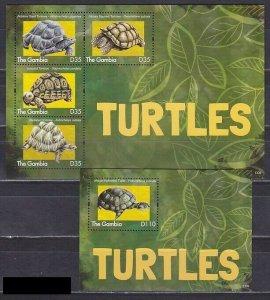 Gambia 2012 fauna turtles klb+s/s MNH