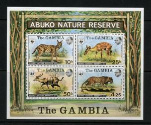 GAMBIA  SCOTT#344a ABUKO NATURE RESERVE S/S   MINT NEVER HINGED  --SCOTT $100.00