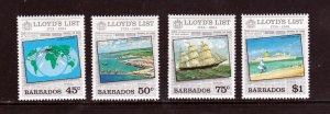 Barbados 627-30, F-VF, MNH