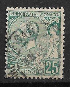 1891 Monaco 20 Prince Albert 20c used.
