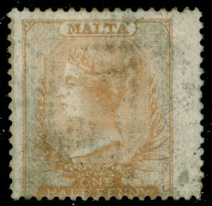 MALTA SG2, ½d brown-orange, UNUSED. Cat £1300.