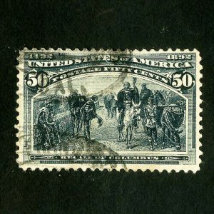 US Stamps # 240 VF Deep color used Scott Value $175.00
