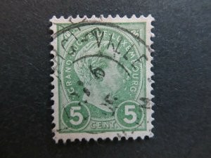 A4P26F30 Letzebuerg Luxembourg 1895 5c used