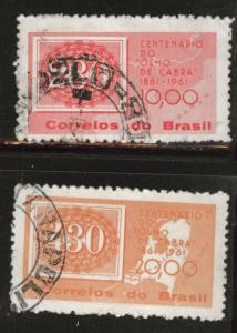Brazil Scott 927-928 Used 1961 stamp set