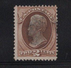 US Stamp Scott #135 Used H Grill SCV $75