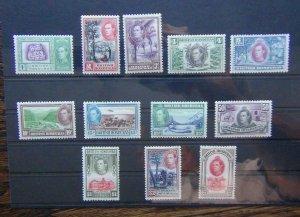 British Honduras 1938 - 1947 set to $5 LMM SG150 - SG161