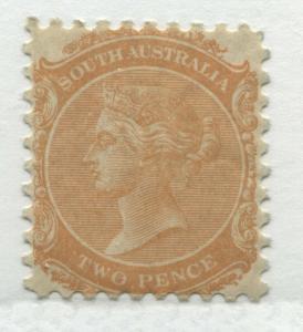 South Australia QV 1876 2d orange unmounted mint NH