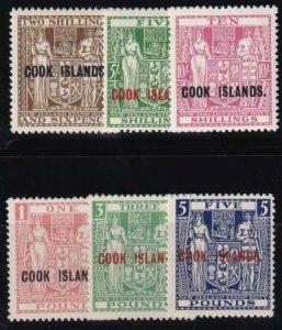 Cook Islands 1943 SC 124A-126C MLH /MNHSet