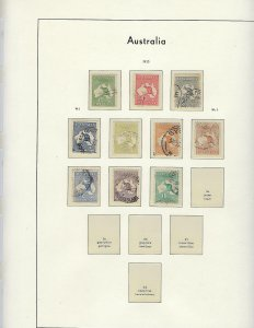 AUSTRALIA- QUALITY COLLECTION 1913-1979 -LIGHTHOUSE HINGELESS PAGES WITH BINDER