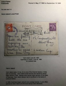 1965 Herm Channel Island England RPPC Postcard Cover To London Joannet Bay