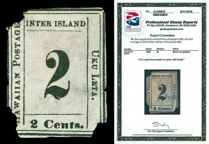 Hawaii Scott 16 1863 2c Numeral Issue Unused NG Cat $1,000 with PSE CERTIFICATE!