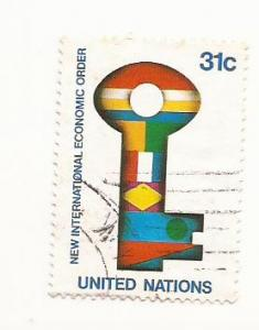 1980 UN New International Economic Order Stamp