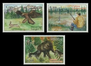 Tajikistan 2020 hunting animals bear birds fish set MNH
