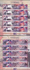 ISLE OF MAN  100th ANNIVERSARY OF THE SINKING OF THE TITANIC SHEET SET  MINT NH