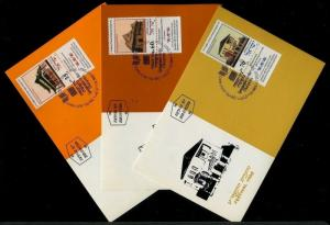 Israel 996-998, Jewish New Year 1988, Phila Maxi Maximum Card