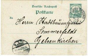 Togo 1907 Porto Seguro cancel on postal card to Germany