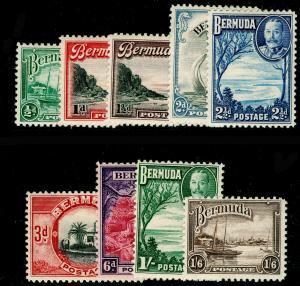 BERMUDA SG98-106, 1936-47 COMPLETE SET, LH MINT. Cat £32.