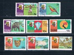 Zaire 902-09 Used set President Mobutu 1979 (Z0013)+