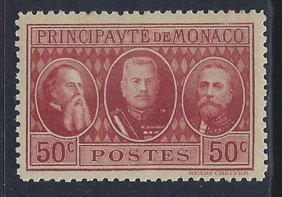Monaco, Scott #100; 50c Princes, MNH