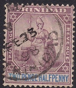 Trinidad 1896 - 06 QV 2 1/2d  Dull Purple & Blue SG 117 ( M1235 )