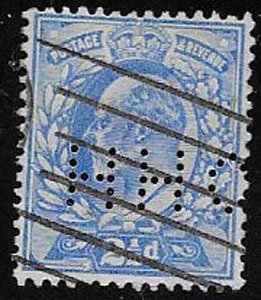 Great Britain, SC 131, perfin, used, ng