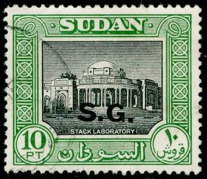 SUDAN SGO81a, 10p black & green, FINE USED.