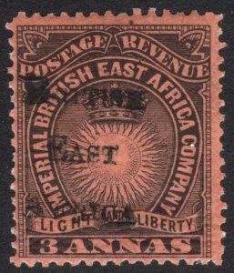 KUT-BEA 1895 3a Black o red Light&Liberty BEA SG 37 Sc 42 LMM/MLH Cat£95($127)