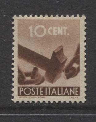 Italy - Scott 463 - Definitive -1945 -MLH - Single 10c Stamp