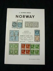 ROBSON LOWE AUCTION CATALOGUE 1968 NORWAY 'ALFRED BIRCH' COLLECTION