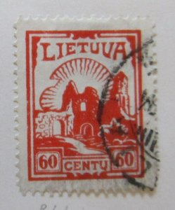 A11P5F50 Litauen Lituanie Lithuania 1933-34 Wmk Mult Letters 60c used