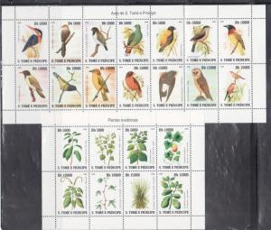 St Thomas & Principe 1775-78 Birds, Butterflies, Flora and Fish Mint NH